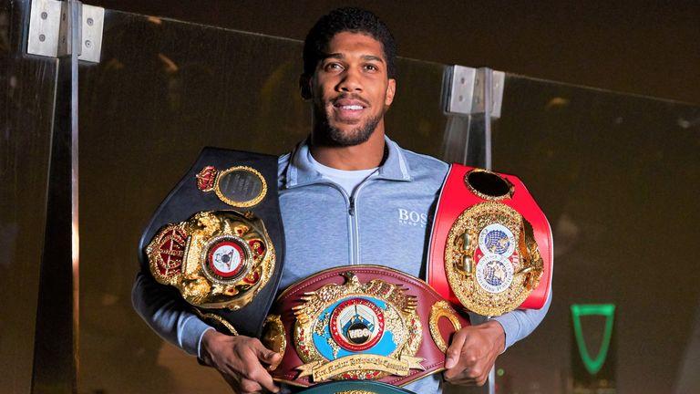Anthony Joshua holds the WBA, IBF and WBO belts