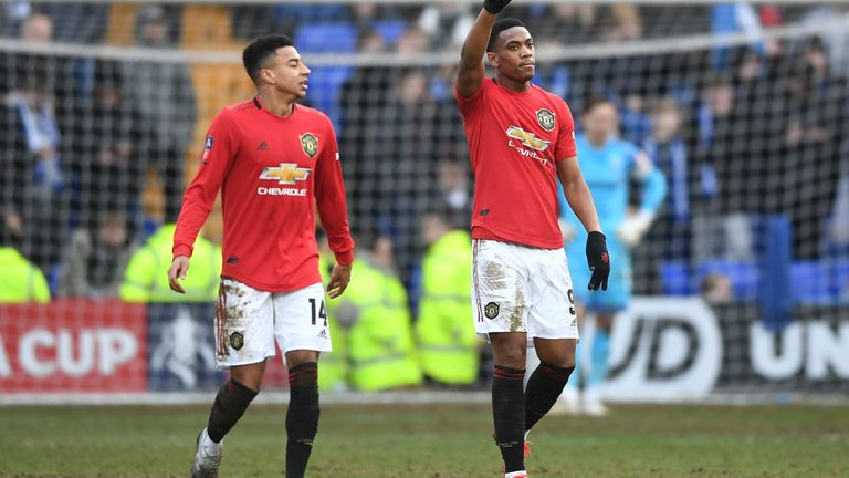 Anthony Martial scored United's fifth