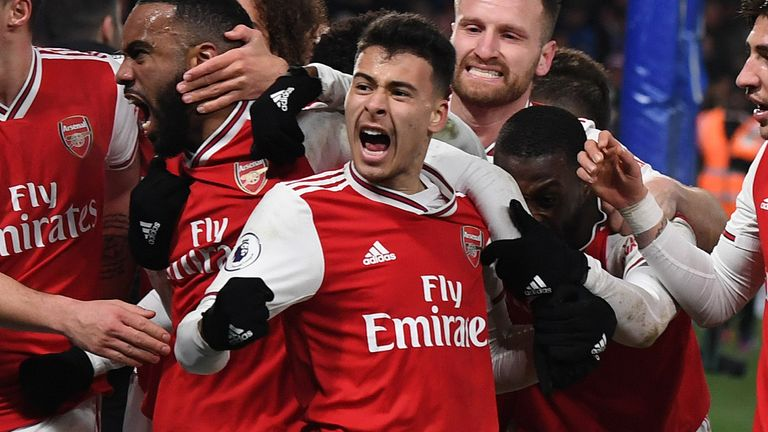 Martinelli scored Arsenal's first goal in their 1-1 draw at Chelsea this week
