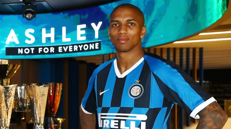 Ashley Young joined Inter Milan from Manchester United