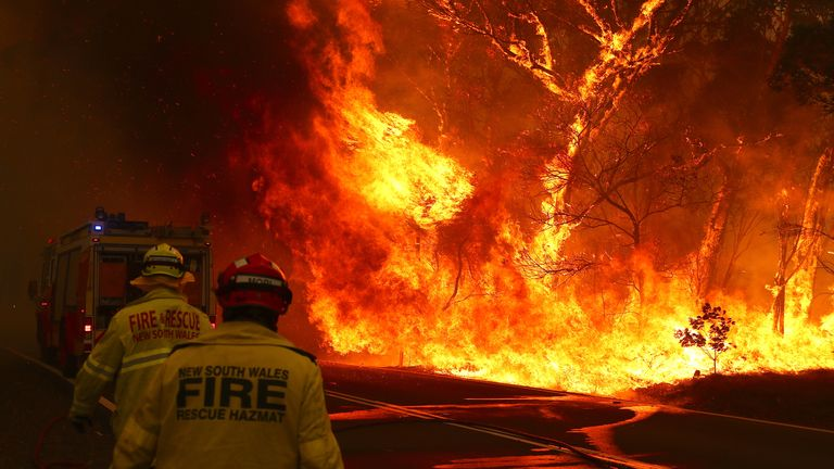 Australian firefighters have been working round the clock to tackle the flames