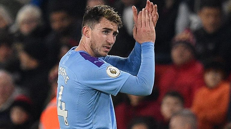 Aymeric Laporte made his first Manchester City appearance since August