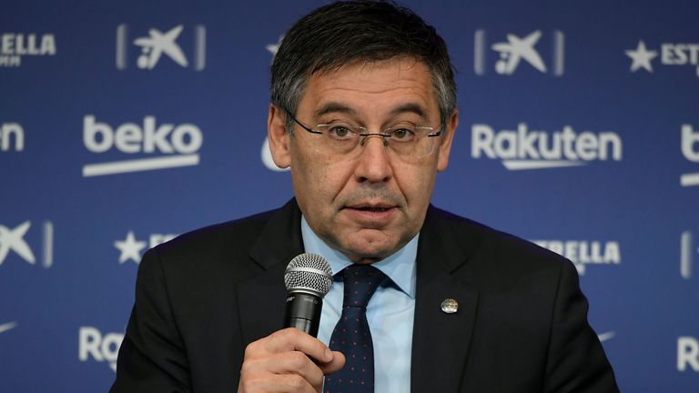 """Barcelona president Josep Maria Bartomeu said he wished the tenure of Ernesto Valverde had finished in a """"different way"""""""