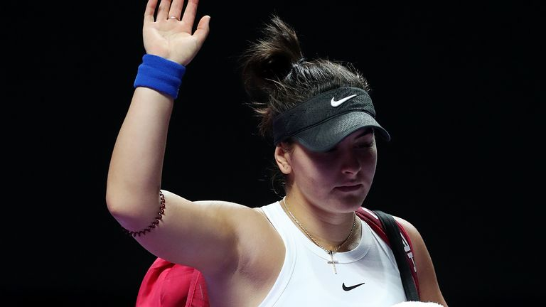 Bianca Andreescu has not recovered quick enough to play in Melbourne