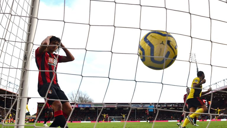 Bournemouth have now picked up four points from a possible 33 during their last 11 league games