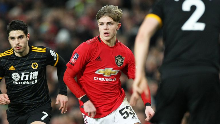 Williams in action against Wolves at Old Trafford