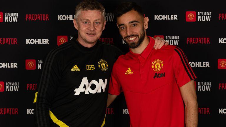 Manchester United unveil new signing Bruno Fernandes
