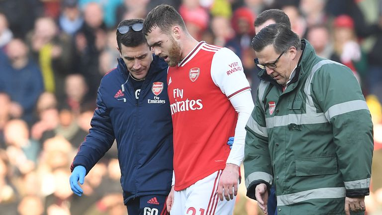 Calum Chambers is one of several absentees for Arsenal