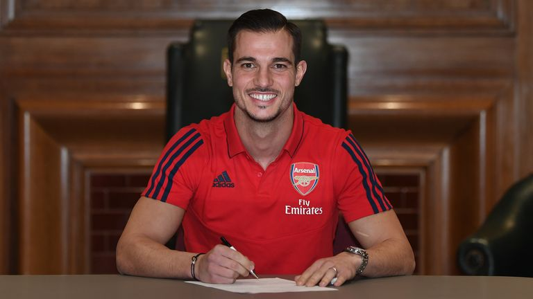 Arsenal unveil new loan signing Cedric Soares