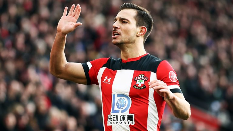Cedric Soares in action for Southampton