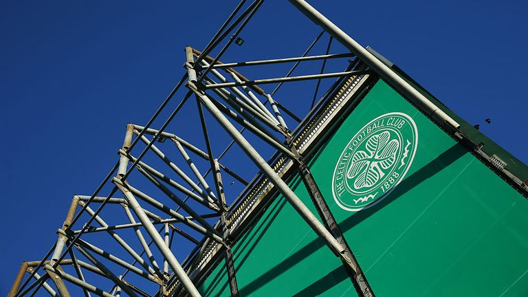GLASGOW, SCOTLAND - OCTOBER 01:  A Celtic crest on the wall of the stadium during the UEFA Europa League match between Celtic FC and Fenerbahce SK at Celtic Park on October 01, 2015 in Glasgow, Scotland. (Photo by Ian MacNicol/Getty images) *** Local Caption ***
