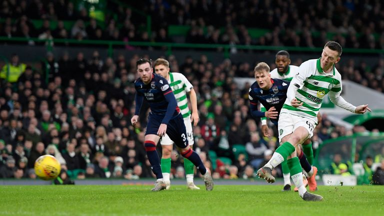 Callum McGregor scored from the penalty spot to put Celtic ahead
