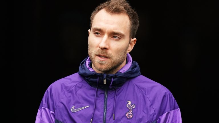 Tottenham Hotspur's Christian Eriksen arrives for the Premier League match at the London Stadium