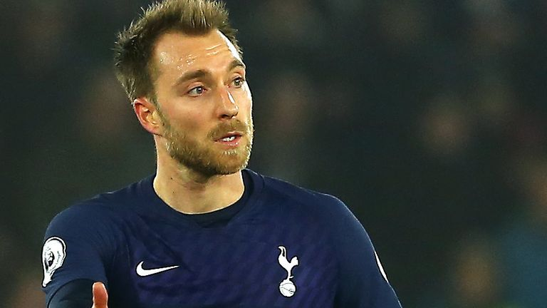 Tottenham Hotspur's Christian Eriksen at full time during the Premier League match at St Mary's Stadium