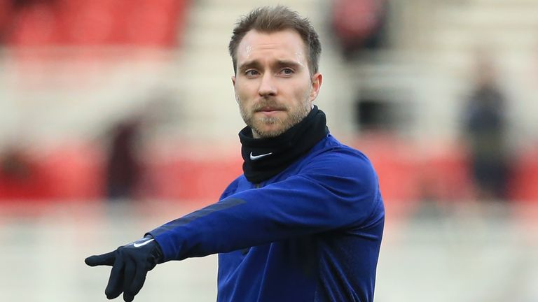Christian Eriksen's Tottenham contract runs out at the end of the season