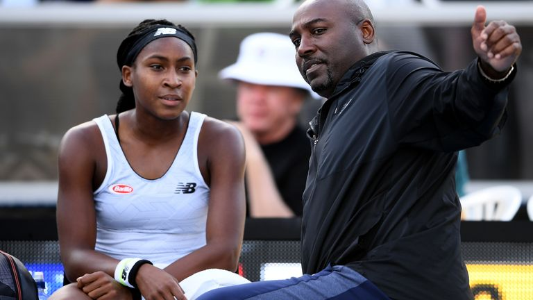 Cori Gauff gave her father and coach Corey a telling off