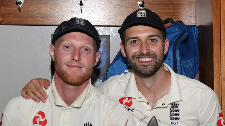 Ben Stokes (L) and Mark Wood reflect on England's fourth Test victory over South Africa in Johannesburg