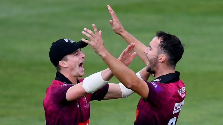 Gregory and Tom Abell (L) are Somerset team-mates