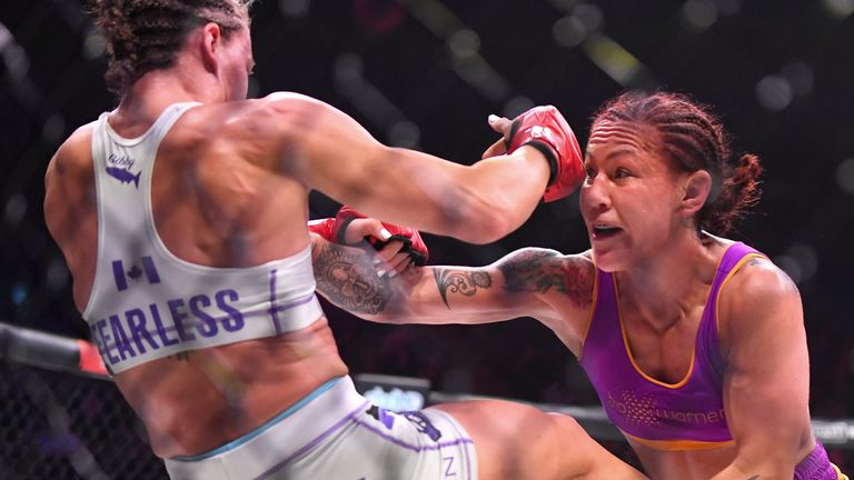 Cris Cyborg, 34, has now won titles in four different MMA promotions