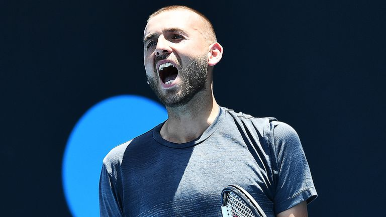 Dan Evans continued his superb recent form by winning in Adelaide