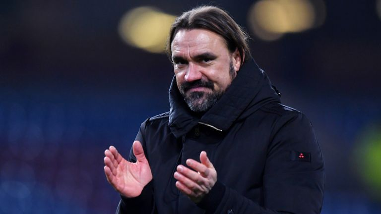 Norwich City head coach Daniel Farke during their FA Cup fourth round match victory away to Burnley