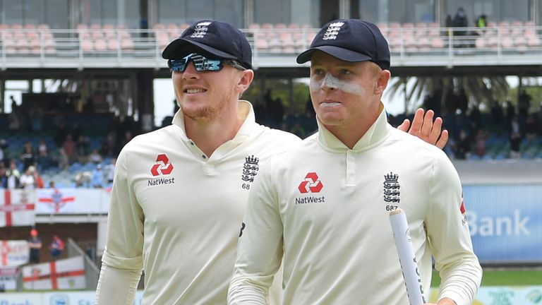 Dom Bess and Ollie Pope, England, Test vs South Africa at Port Elizabeth