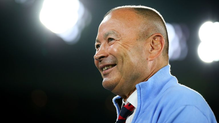 England Head Coach Eddie Jones addresses the media during an interview to announce The 2020 England Six Nations squad at Twickenham Stadium on January 20, 2020 in London, England.