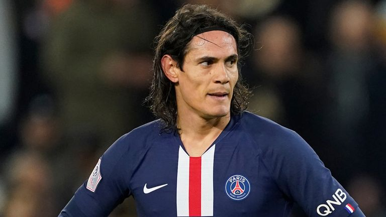Edinson Cavani is out of contract at PSG this summer