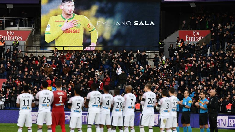 Nantes paid tribute to former striker Emiliano Sala on the anniversary of his death