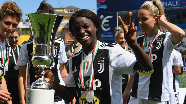 Aluko ended her career at Juventus in 2019