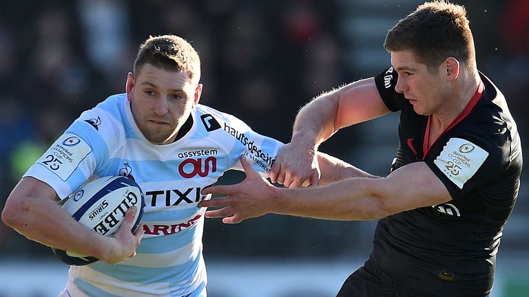 Russell in action for Racing 92 against Saracens