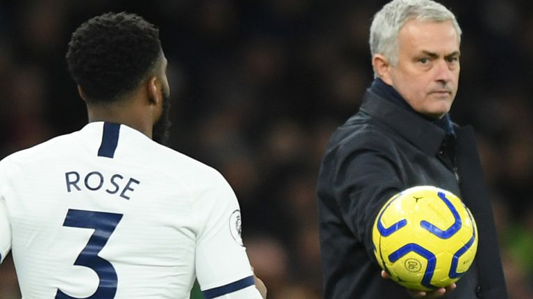 Danny Rose and Jose Mourinho