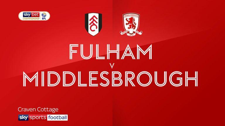Fulham v Middlesbrough badge