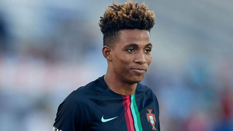 Gedson Fernandes of Portugal looks on prior to the International Friendly match between Portugal and Croatia at Algarve Stadium on September 6, 2018