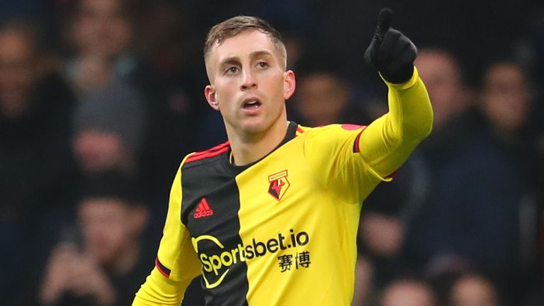 Gerard Deulofeu celebrates his goal against Wolves