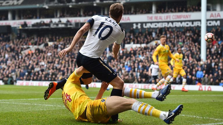 Kane only missed three Spurs games following the injury he picked up against Millwall