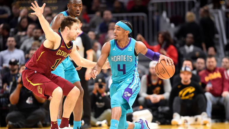 Charlotte Hornets against  the Cleveland Cavaliers in Week 11 of the NBA season.