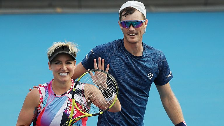 Jamie Murray and Bethanie Mattek-Sands made it through to the mixed doubles final in Melbourne