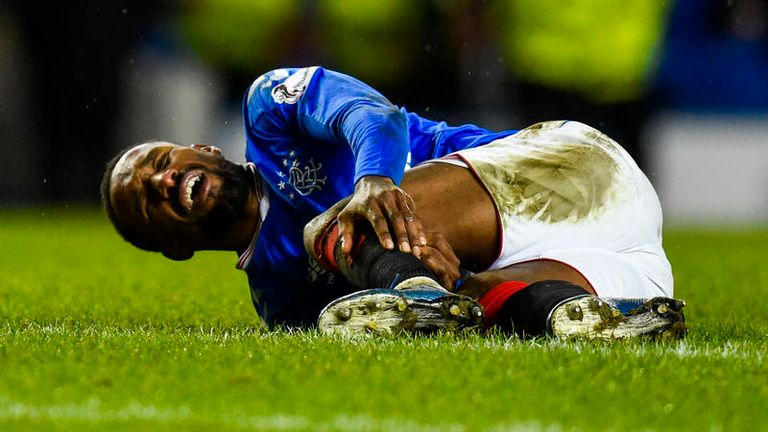Jermain Defoe suffered a calf injury against Ross County at Ibrox