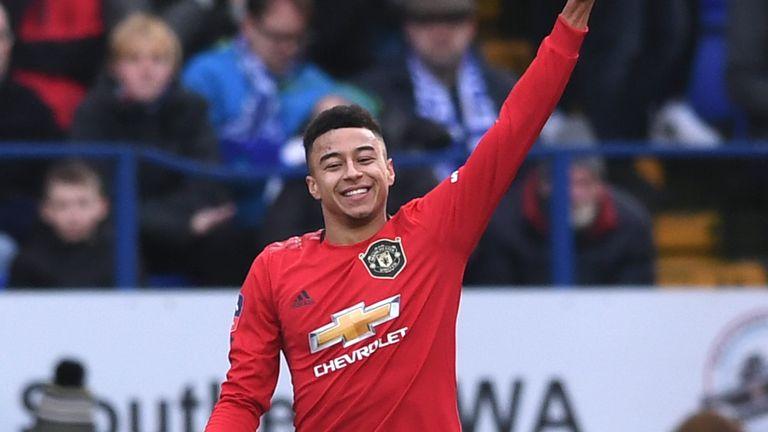 Jesse Lingard scored Man Utd's third goal