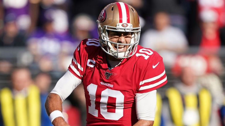 Jimmy Garoppolo had a relatively quiet day as the Niners ran the ball heavily