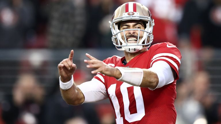 Jimmy Garoppolo had little work to do in the 49ers' win