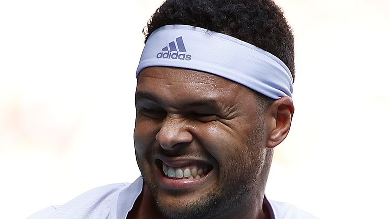 Jo-Wilfred Tsonga was forced to retire after suffering an injury