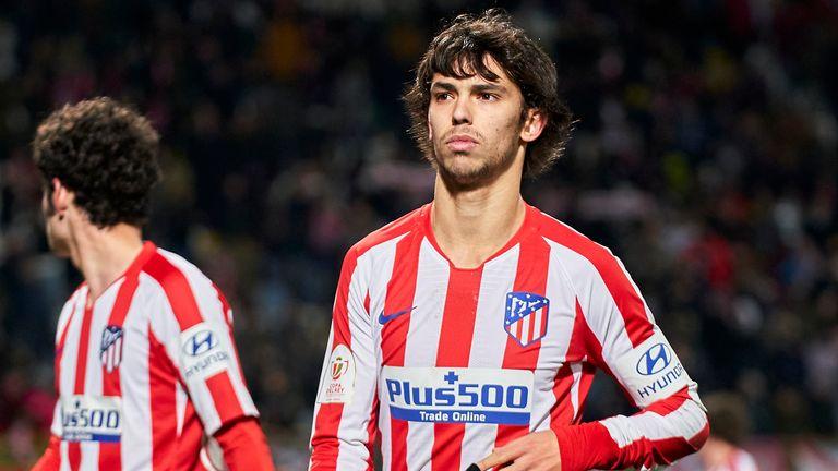 Atletico Madrid forward Joao Felix cuts a dejected figure following the Copa del Rey defeat