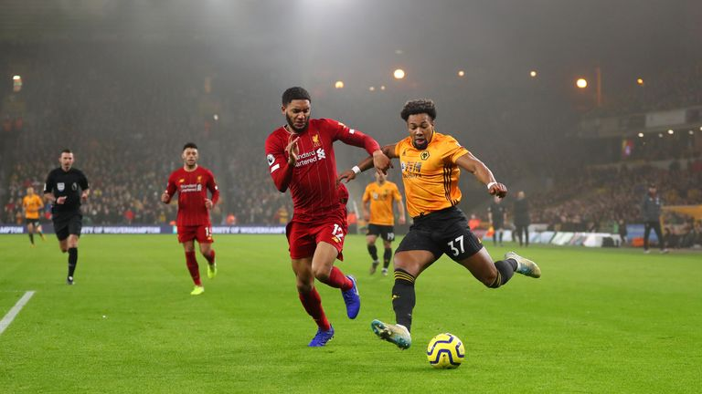 Adama Traore was a constant menace but Gomez stood up to the challenge