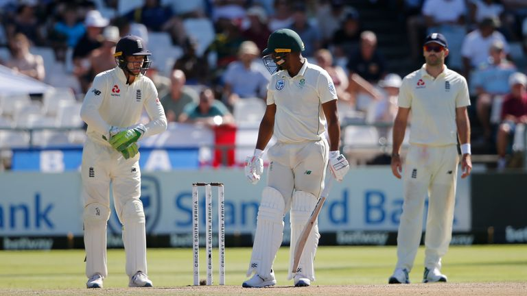 Vernon Philander and Jos Buttler exchanged words on day five in Cape Town