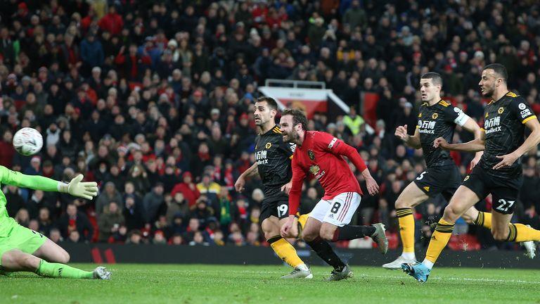 Mata guides his finish beyond John Ruddy to break the deadlock