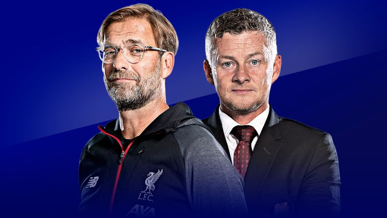 Jurgen Klopp and Ole Gunnar Solskjaer meet at Anfield on Super Sunday