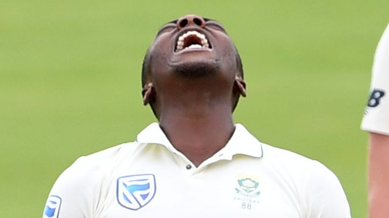 PRETORIA, SOUTH AFRICA - DECEMBER 28: Kagiso Rabada of the Proteas frustrated during day 3 of the 1st Test match between South Africa and England at SuperSport Park on December 28, 2019 in Pretoria, South Africa. (Photo by Lee Warren/Gallo Images)