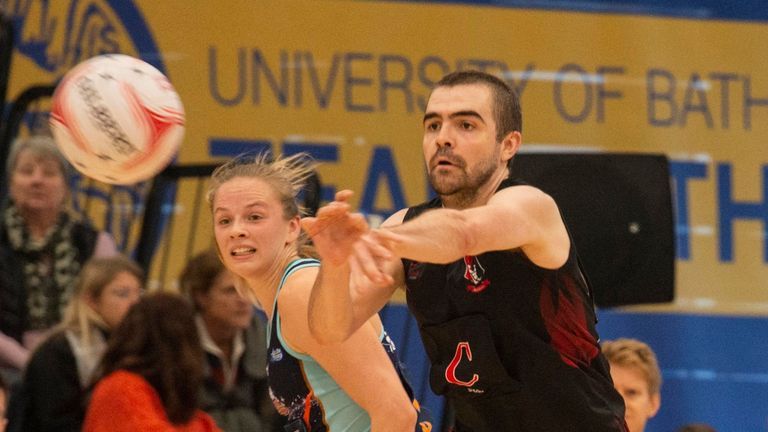 The Knights are paving the way for men's netball in England (Credit: Clare Green for Matchtight)